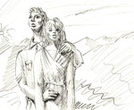 "Alice Hilsum : dessin : ""Loving you"", mine graphite, 2004"